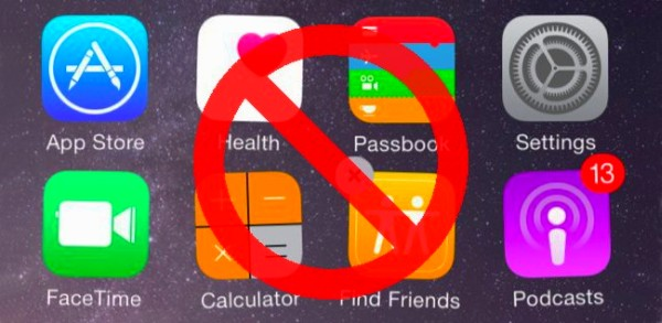 удалить программу на iPhone