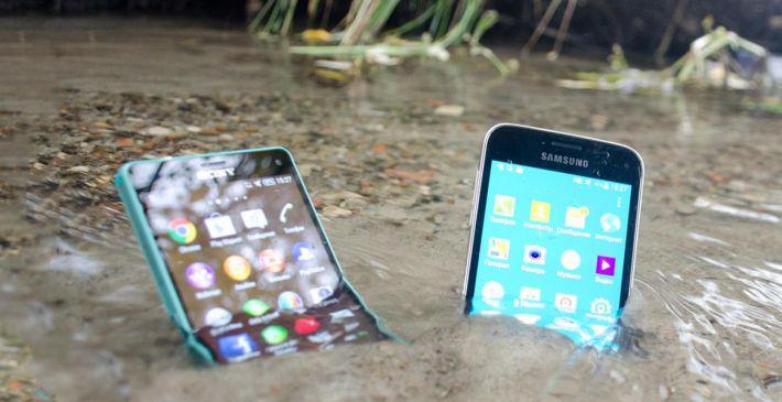 утонувшие смартфоны