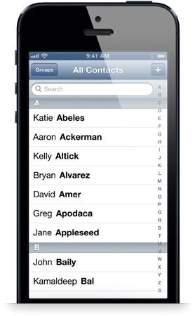 iphone contacs