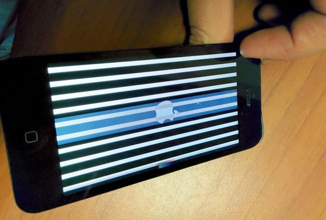 горизонтальные полосы на экране iPhone