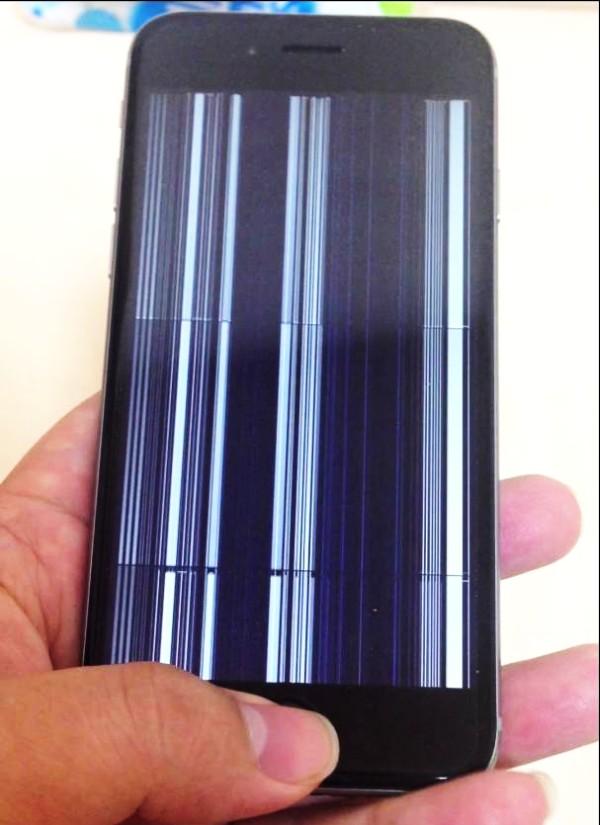 вертикальные полосы на экране iPhone