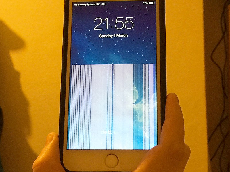 Полосит экран iPhone