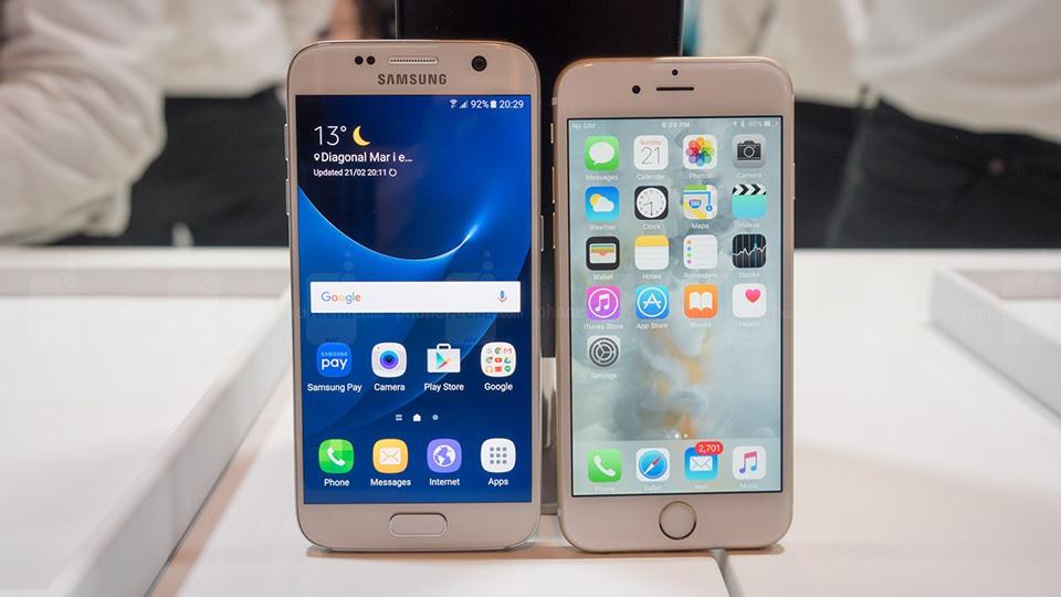 Samsung Galaxy S6 и iPhone 6s