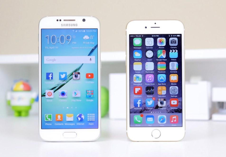 Galaxy S6 и Айфон
