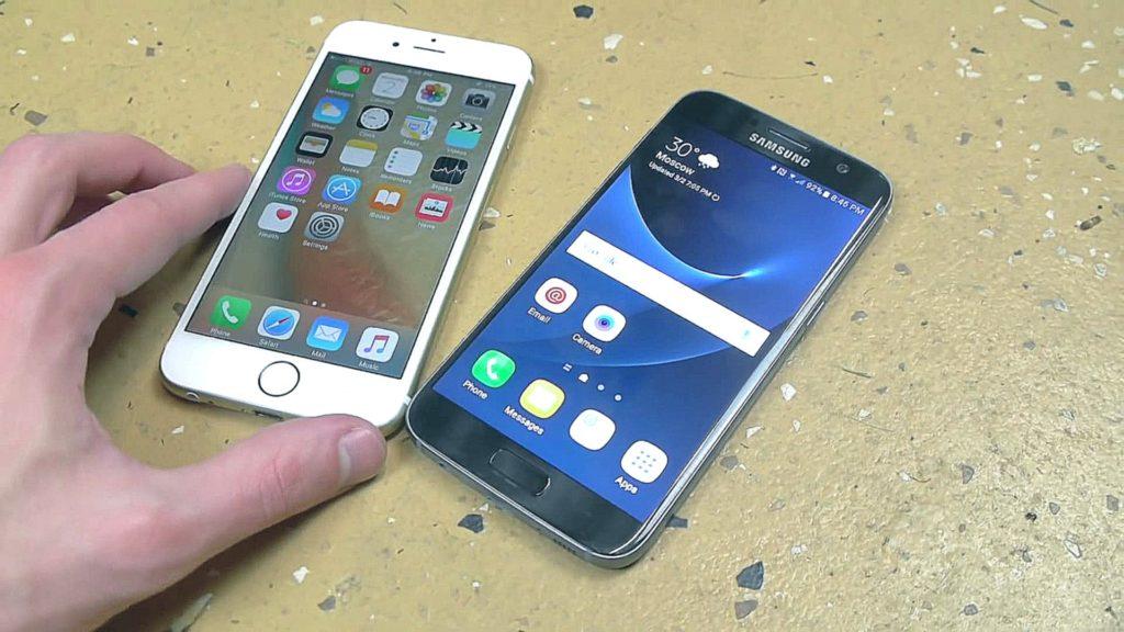 телефоны iphone и samsung