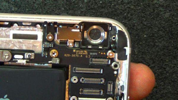 Камера телефона под крышкой